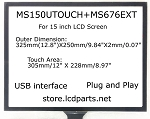 15 inch Touch Screen for Elo, MS150Utouch+MS676EXT