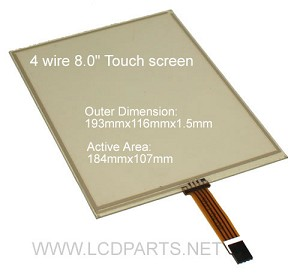 "4 wire touch for 8.0"" LCD screen(4WIRE080W.244.781)"