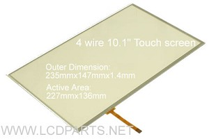 "4 wire touch for 10.1"" LCD screen (4WIRE101W.757.249)"