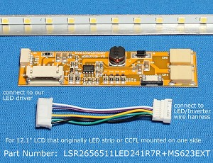"LSR2656511LED241R7R+MS623EXT, For 12.1"" NEC LCD Screen, 1500 nits"