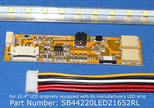 "SB44220LED21652RL, For 10.4"" LCD originally equipped with LED backlight, 1500 nits"