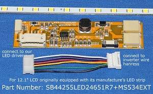 "SB44255LED24651R7+MS534EXT, For 12.1"" NEC LCD originally equipped with its manufacturer's , 1300 nits"