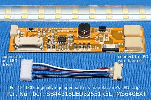"SB44318LED32651R5L+MS640EXT, For 15"" LCD originally equipped with LED backlight, 1300 nits"