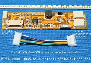"UB35185LED3515X1+MS610UB+MS534EXT for 8.4"" LCD"
