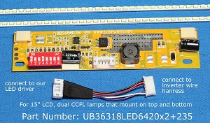 "UB36318LED6420X2+235 for 15"" LCD Screen"