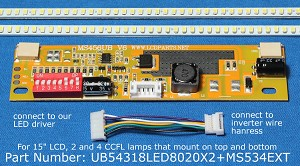 "UB54318LED8020X2+MS534EXT for 15"" LCD Screens"