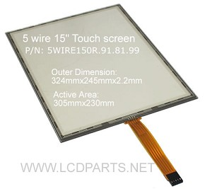 "5 wire touch for 15"" LCD screen (5WIRE150R.91.81.99)"