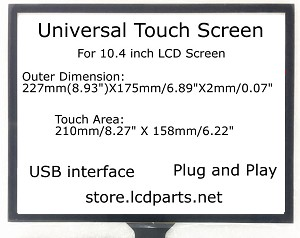 10.4 inch Universal Touch Screen, MS104Utouch